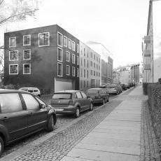 Strasse im Hechtviertel in Dresden