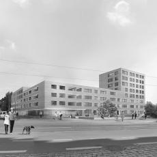 Rendering Perspektive Architektur Dresden Friedensstrasse