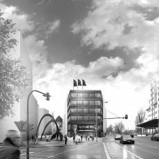 Rendering Perspektive Herbert-Wehner-Haus Dresden